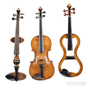 Three Mute (or Practice) Violins