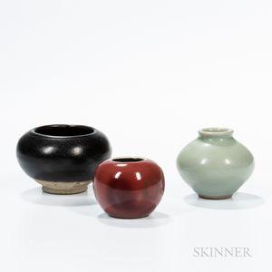 Three Glazed Ceramic Items