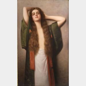 Berlin Porcelain Plaque of a Woman with Long Tresses