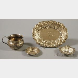Four Small Pieces of Sterling Silver Tableware