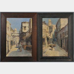 Arabian School, 19th/20th Century      Three Orientalist Street Views