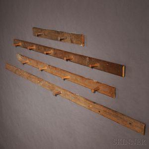 Four Shaker Pine Peg Rails