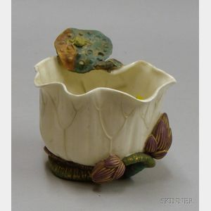Royal Worcester Art Nouveau Vase Decorated with Turtles and Frogs