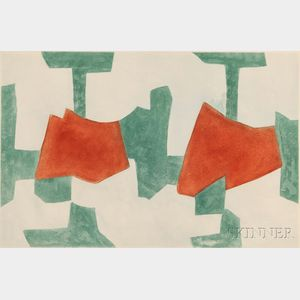 Serge Poliakoff (Russian, 1906-1969)      Composition in Blue, Green, and Red