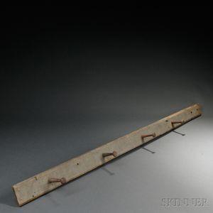 Shaker Blue-gray Painted Peg Rail