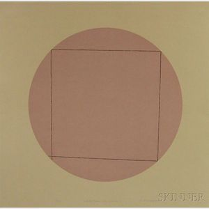 Robert Peter Mangold (American, b. 1937)      Distorted Square within a Circle 2