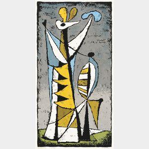Edward August Landon (American, 1911-1984)      Two Works: Dark Vessel