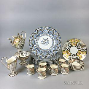 Twenty-two Wedgwood Lustre-decorated Tableware Items.