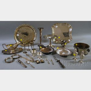 Group of S. Kirk Sterling and Silver-plated Serving Items