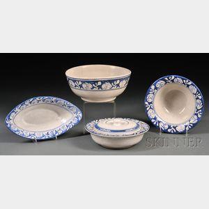 Four Dedham Rabbit Serving Bowls