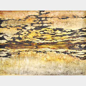 Gian Berto Vanni (Italian, b. 1927)      Abstract Landscape.