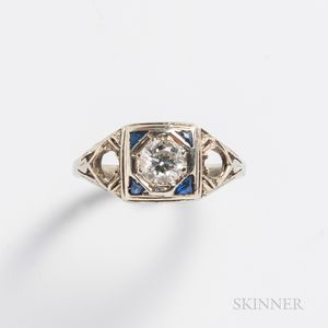Art Deco 14kt Gold and Diamond Ring