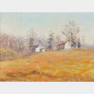 Susan Hayward Schneider (American, b. 1876)      Autumn Landscape, Pennsylvania