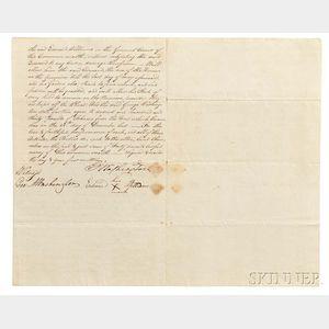 Washington, George (1732-1799) Indenture Signed, Fairfax County, Virginia, 10 February 1787.