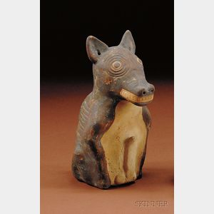 Pre-Columbian Painted Pottery Dog
