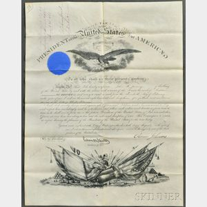 Johnson, Andrew (1808-1875) Military Commissions, Three Stamped Documents.