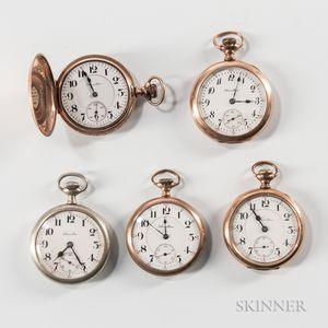 Five 16 Size Hamilton Watches
