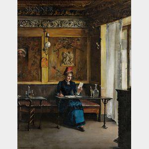 Edgar Julien Bissell (American, 1861-1928)      At the Café, Paris