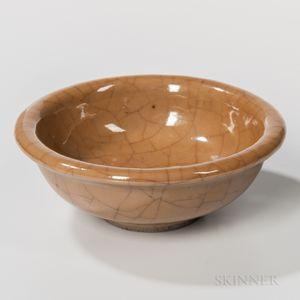Crackled Brown-glazed Bowl