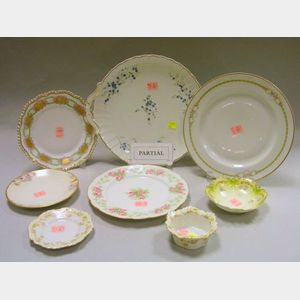 Approximately Seventy-three Pieces of Floral Decorated Porcelain Tableware