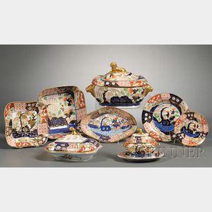 Extensive Assembled Imari Decorated Porcelain Dinner Service