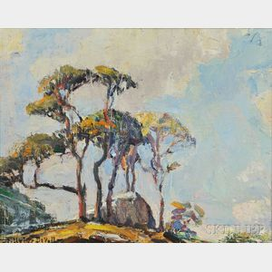 Frederick Usher De Voll (American, 1873-1941)      Rocks and Trees