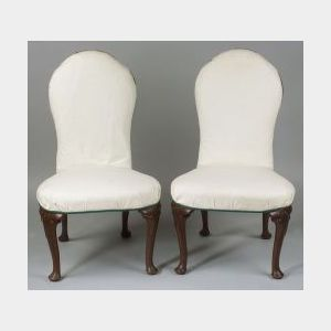 Set of Four Queen Anne Style Mahogany Side Chairs