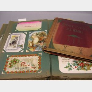 Late 19th and Early 20th Century Holiday Postcard Album and Geographic Postcard Album.