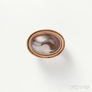 14kt Gold and Boulder Opal Ring