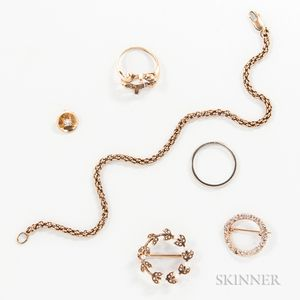 Group of 18kt and 14kt Gold Jewelry