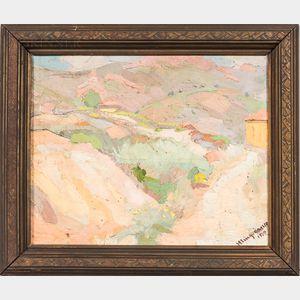 Juan Eugenio Mingorance Navas (Spanish, 1906-1979)      Paisaje del Midi (Francia)