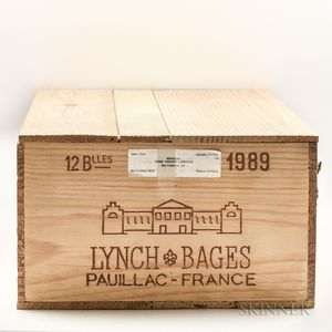 Chateau Lynch Bages 1989, 12 bottles (owc)