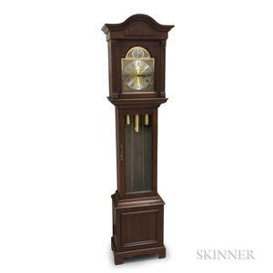 Howard Miller Mahogany Veneer Tall Clock
