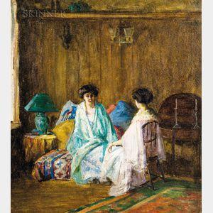 School of William Merritt Chase (American, 1849-1916)    Two Women in Japanese Dress