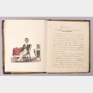 Handwritten Manuscript Frederic ou Les effets de la Desobiessance