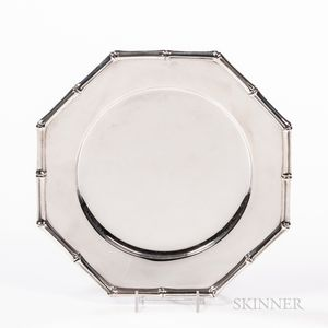 Set of Eight Tiffany & Co. Sterling Silver Bamboo Pattern Plates