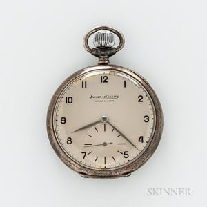 Sterling Silver Jaeger LeCoultre Open-face Watch
