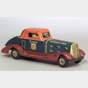 """Marx """"Justice G-Man Pursuit Car"""""""