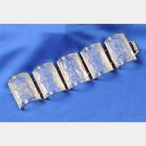 Frosted Glass Bracelet, Lalique