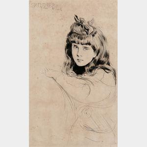 Paul César Helleu (French, 1859-1927)      Ellen 11 ans 1/2