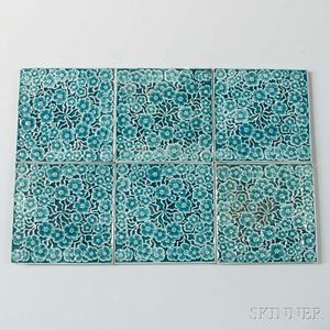Six J. & J.G. Low Art Tile Works