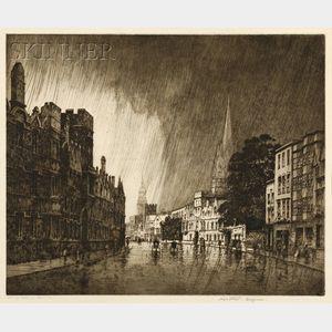 George Elbert Burr (American, 1859-1939)      High Street, Oxford
