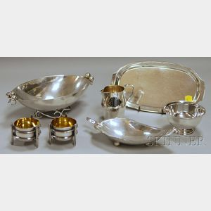 Seven Small Sterling Silver Tableware Items