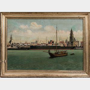 Dutch School, 19th Century      Dutch Waterfront Scene