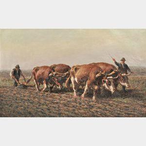 George A. Hays (American, 1854-1945)      Ploughing