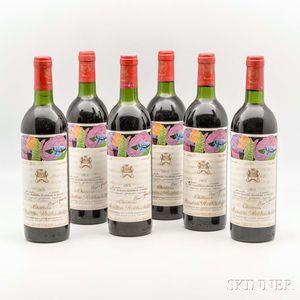Chateau Mouton Rothschild 1975, 6 bottles
