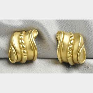 18kt Gold Earclips, Kieselstein-Cord