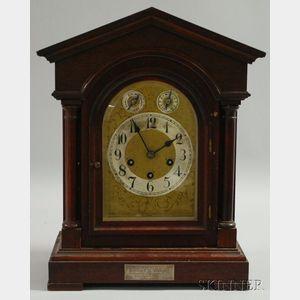 Mahogany Quarter-chiming Mantel Clock