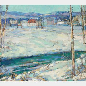 Reynolds L. Selfridge (American, 1898-1974)      Edge of Village Winter