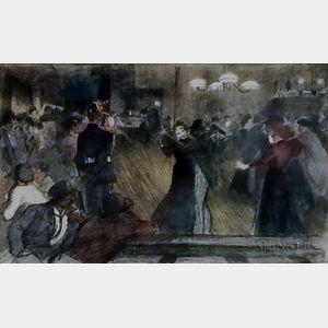 Théophile Alexandre Steinlen (French/Swiss, 1859-1923)      Bal de barrière